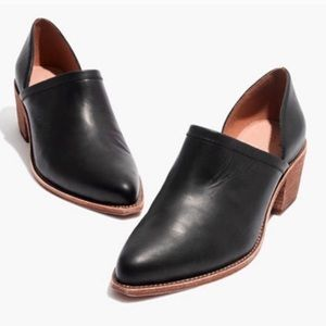 Madewell Brady Lowcut Block Black Booties Boots 7
